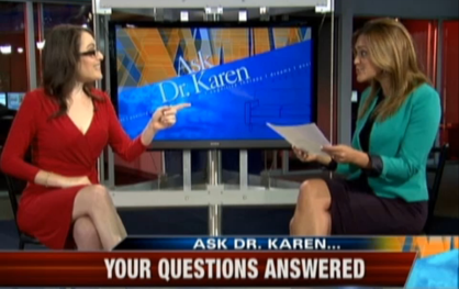 Ask Dr Karen segment on FOX 25 Morning News