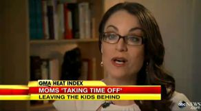 Dr. Karen discussing Mom's taking time away from family on Good Morning America