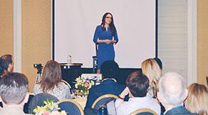Dr. Karen addressing audience at AAMFT conference